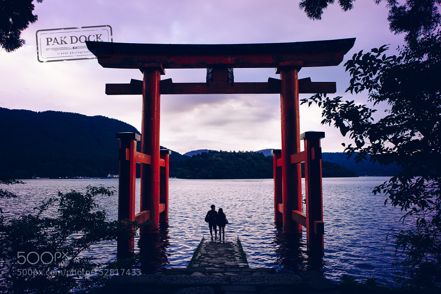 A couple under the Torii - Hakone