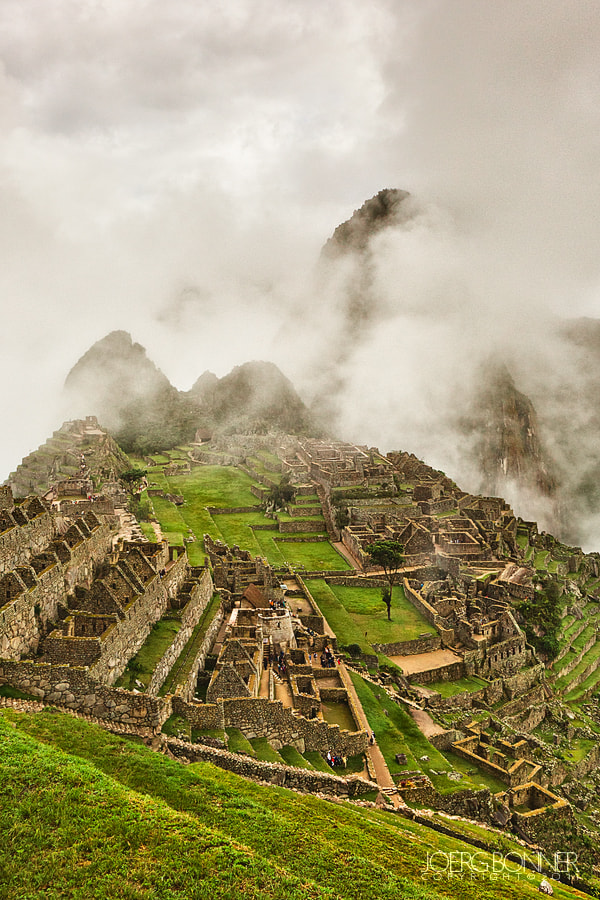 Photograph Machu Picchu in Fog by Joerg Bonner on 500px