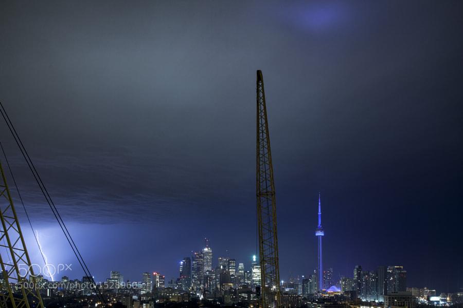 Lightning Strike Toronto by Richard Gottardo (RichardGottardo) on 500px.com