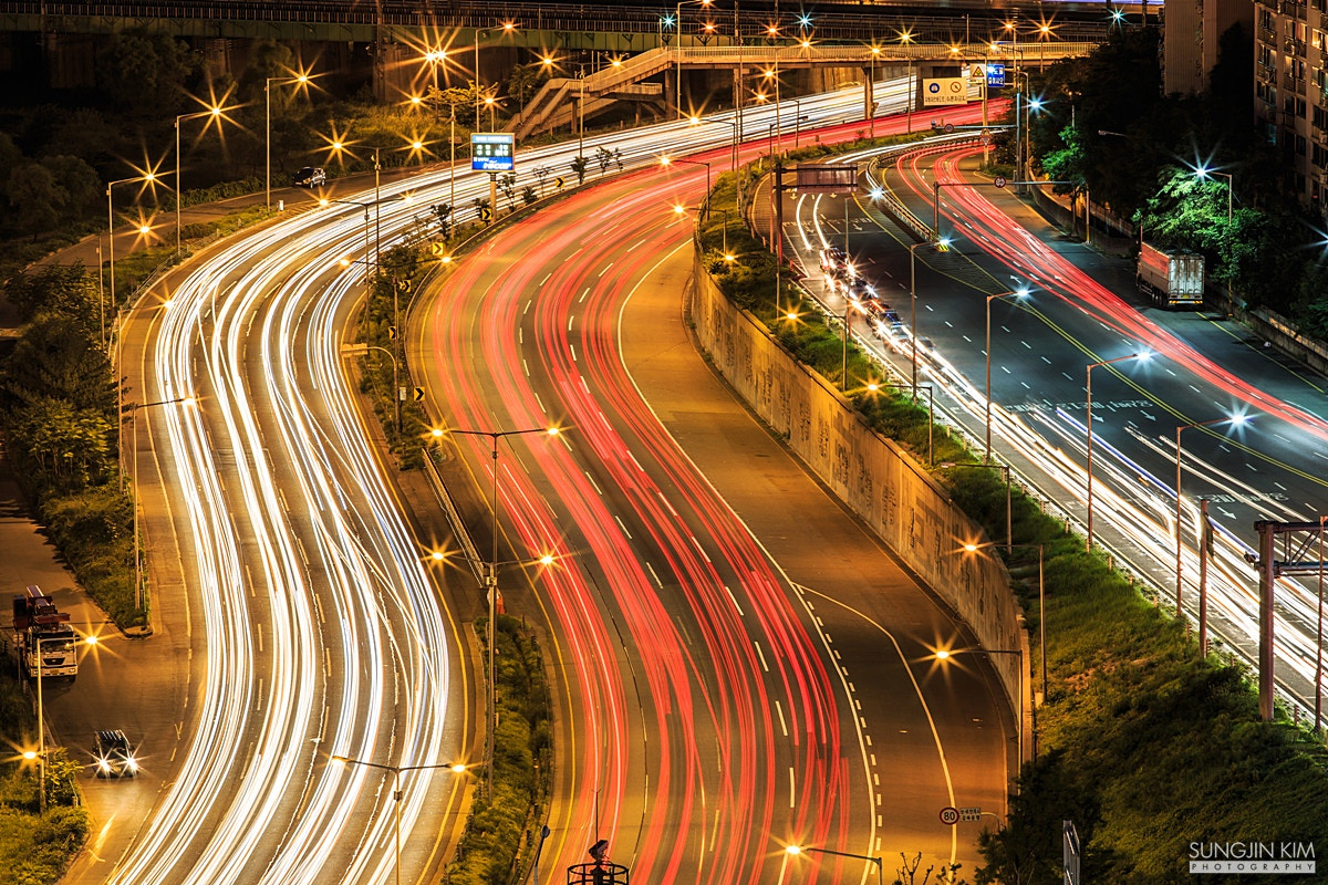 Photograph Light trails by Sungjin Kim on 500px