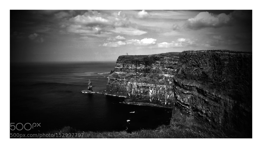 A cliff top in Ireland, taken with my phone camera by Maged