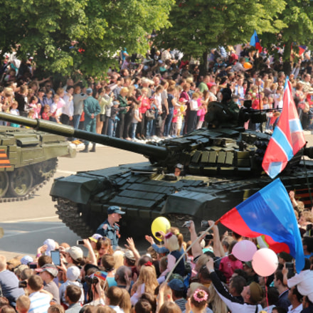 9th May Victory Day/Луганск 9 Мая, Canon EOS 650D, Canon EF 135mm f/2.8 Soft