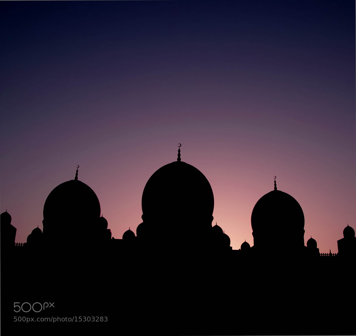 Photograph Grand Mosque in Silhouette by julian john on 500px