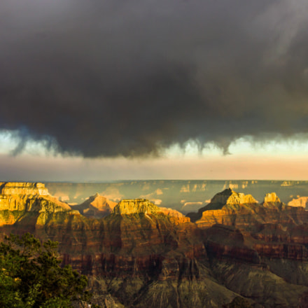 Grand Canyon storm brewing, Canon EOS REBEL T2I, Tamron 18-250mm f/3.5-6.3 Di II LD Aspherical [IF] Macro