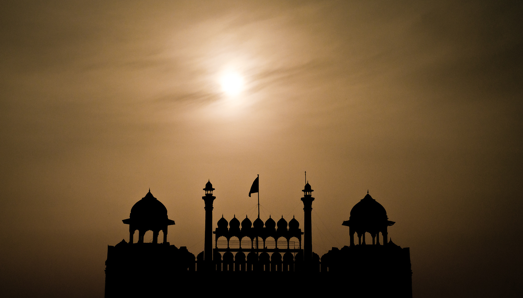 Photograph Red Fort Silhouette by shishir thakur on 500px