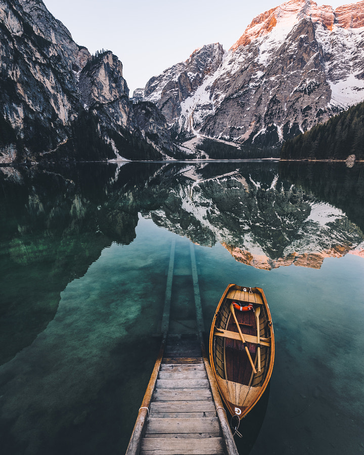 Sunrise at Lago di Braies by Merlin Kafka on 500px.com
