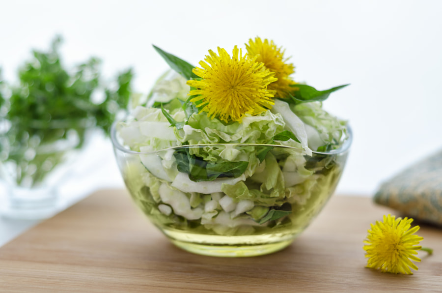Chinese cabbage salad on the table by GALINA BONDARENKO on 500px.com