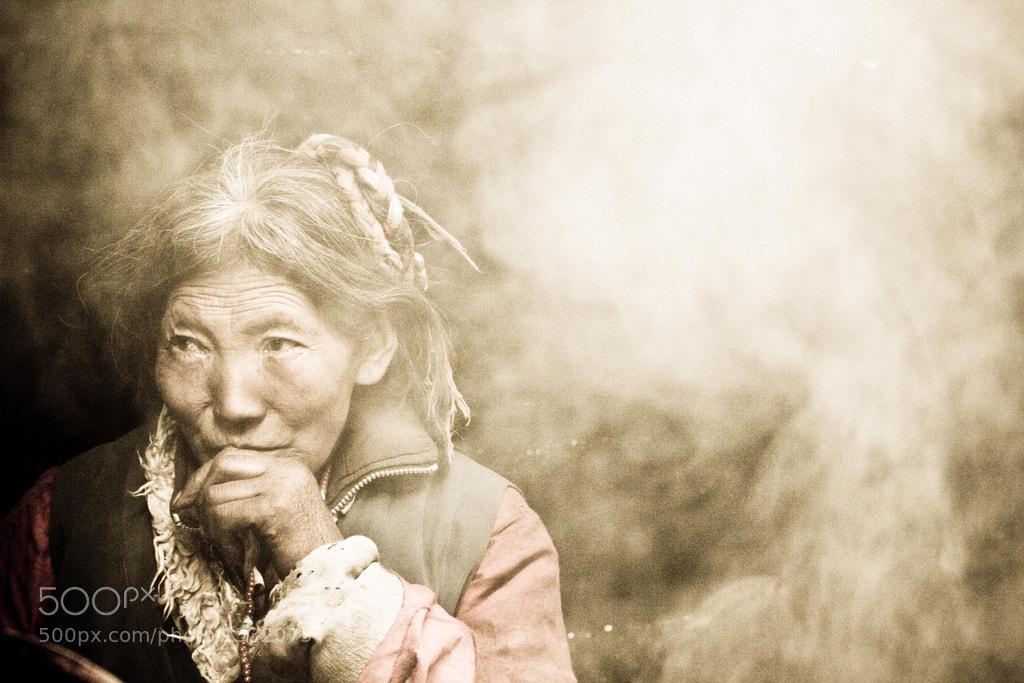 Photograph Tibetan Nomad Woman by JL Spradlin on 500px