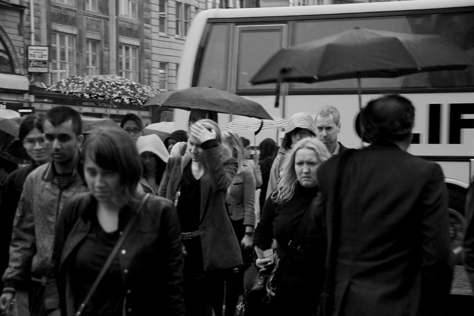 Photograph Misery (from Commuters series) by Nicola Albon on 500px