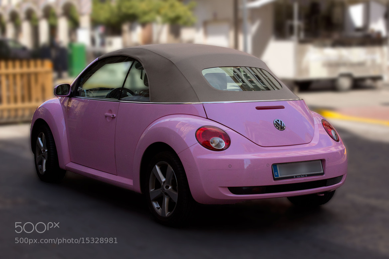 pink volkswagen beetle by bego paterna 500px. Black Bedroom Furniture Sets. Home Design Ideas