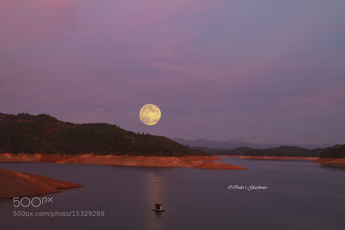 Photograph Silent Lake & Moon by Inder Wadhwa on 500px