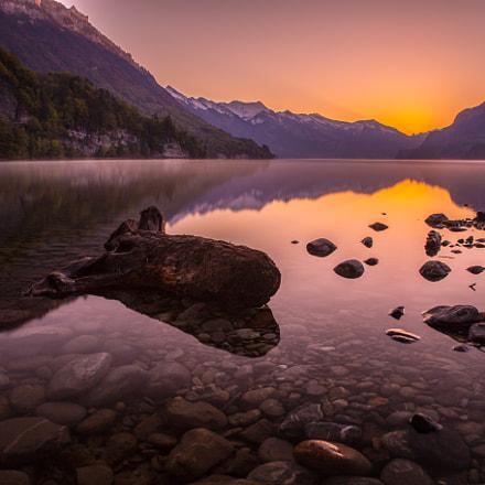 Before sunrise lake of Brienz