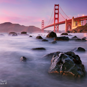 Golden Gate on the rocks by Dmitri Fomin (DmitriFominphotography) on 500px.com