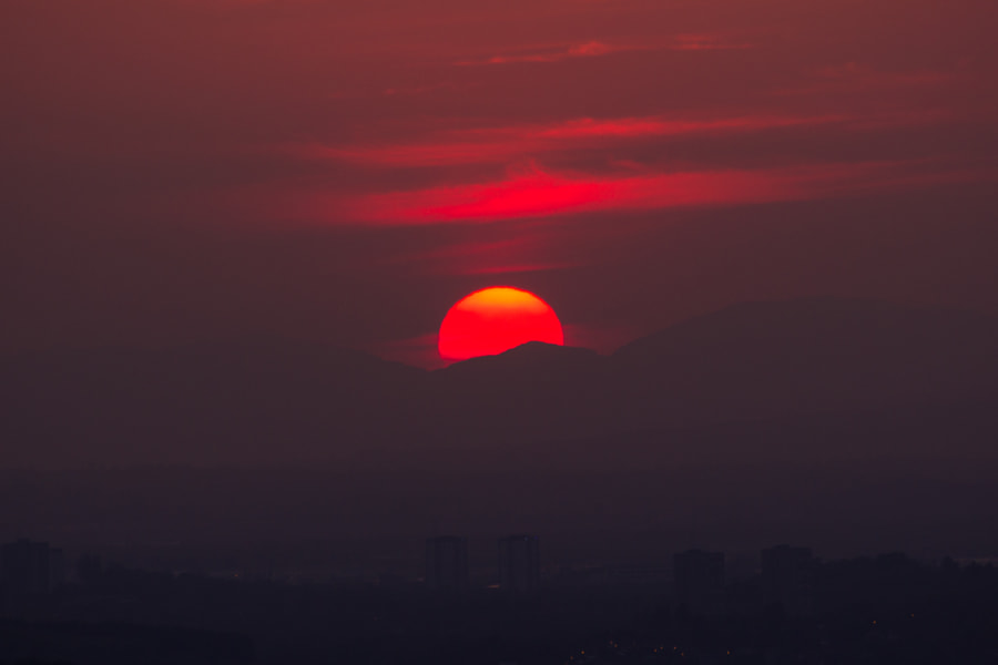 Dim Red Sunset by Mark Haldane on 500px.com