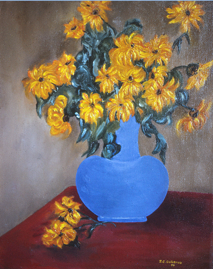 Photograph Sunflowers - Oil on canvas, 16 x 20 by Jean-Claude Guilbaud on 500px