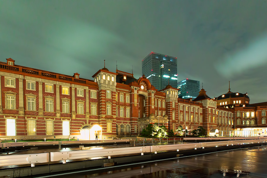 Marunouchi side of Tokyo station (central of Japan) renewed at 1st Oct 2012.