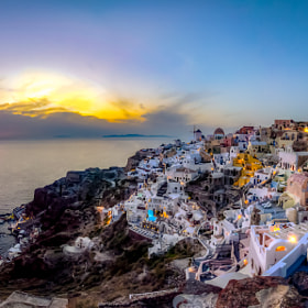 santorini sunset by chris mcclanahan