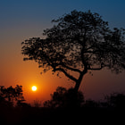 Another beautiful African sunset after a rewarding game drive in the Timbavati Private Game Reserve in Kruger Park, South Africa.