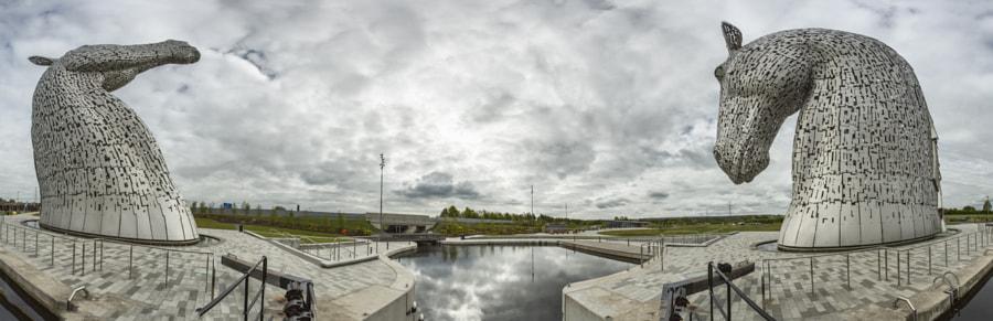 Kelpies panorama 1