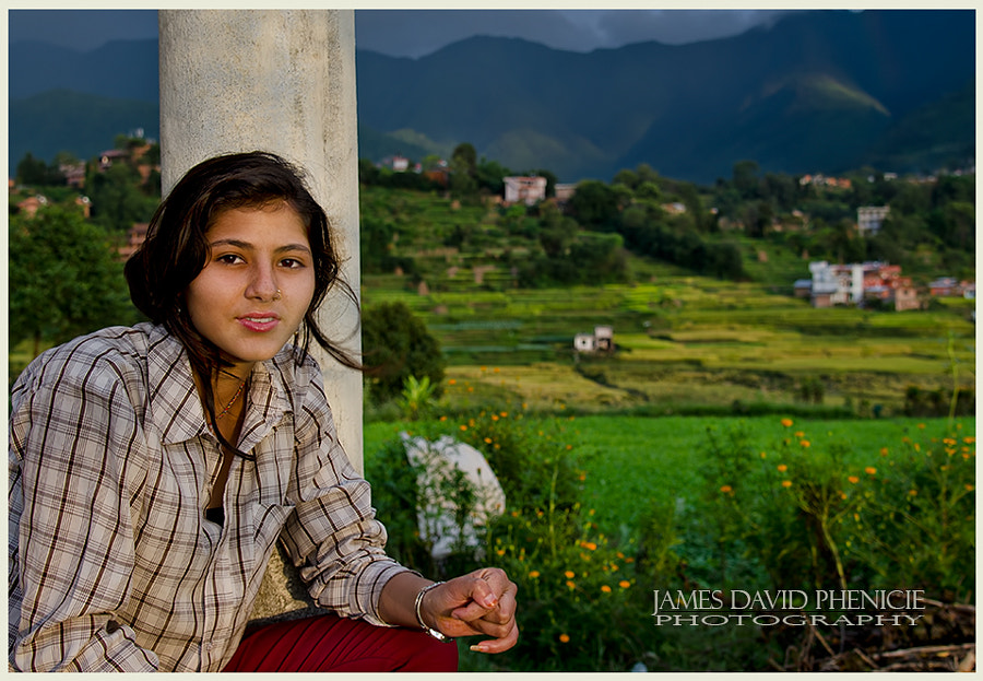 Faces of Nepal:  Teenager on a Porch