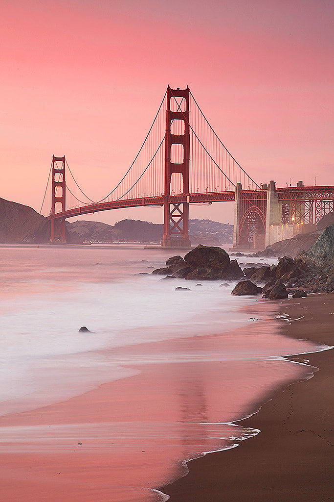 Photograph Golden Gate in Red by Dirk Ehrentraut on 500px