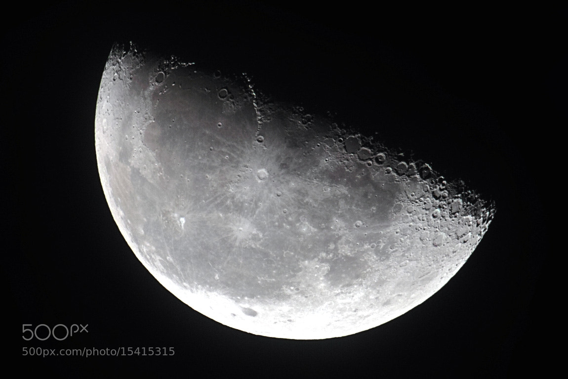 Photograph Half moon by Tao Sasaki on 500px