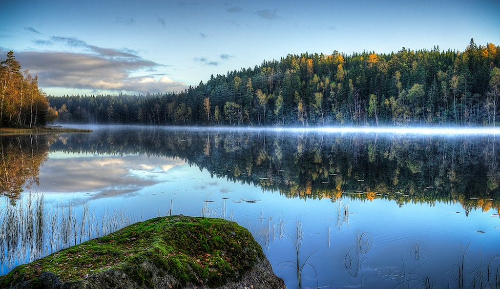 Photograph misty lake by Linus Englund on 500px