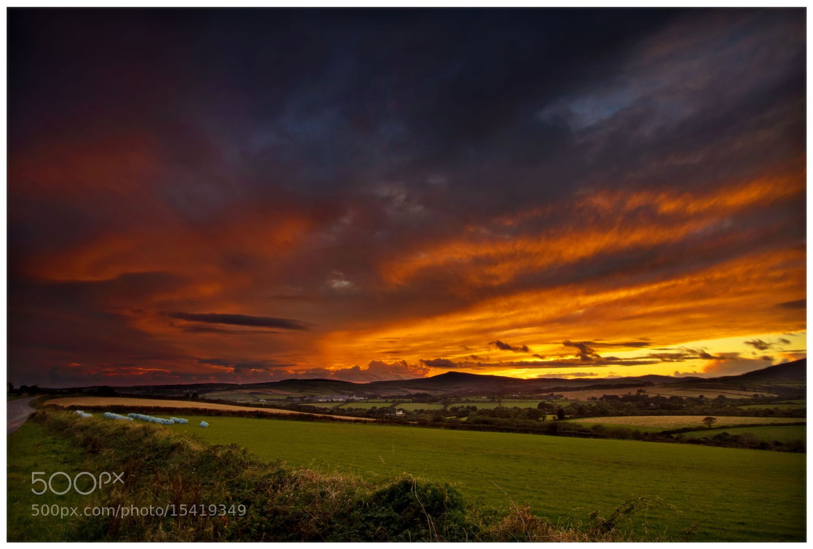 Photograph October Sunset over Mount Rule, Isle of Man by Claire S on 500px