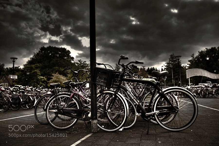 Photograph Abandoned bicycles by Myron van Bochove on 500px