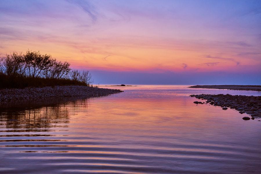 Peaceful nightfall