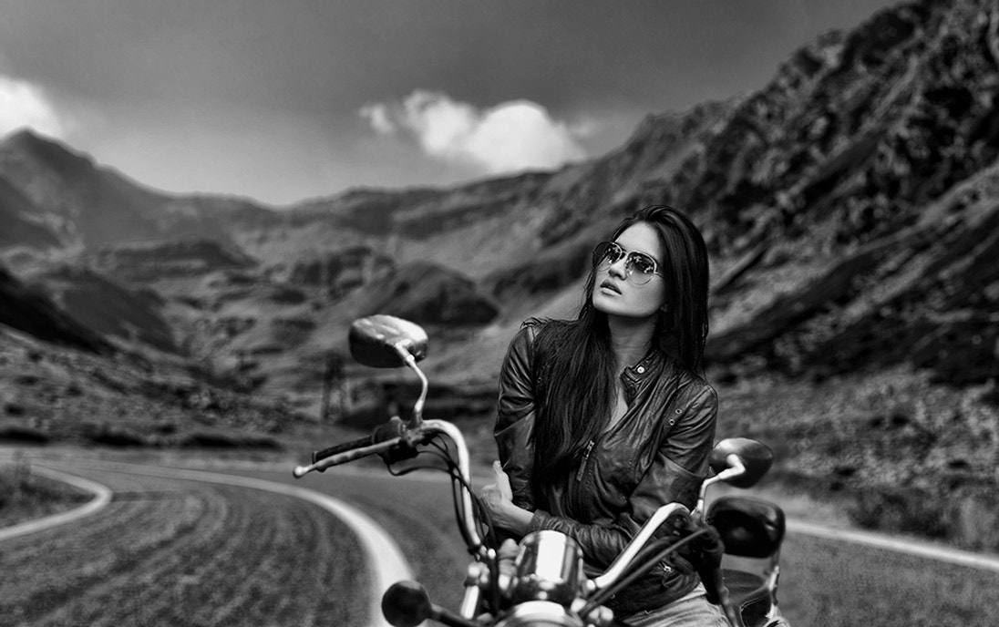 Photograph  Biker Babe  by  V   P  on 500px