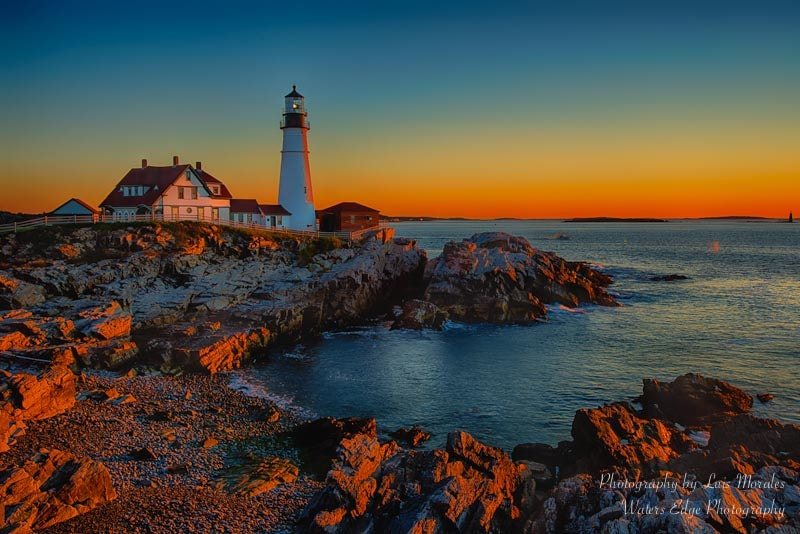 Photograph Portland Head Lighthouse at sunrise, ME by Luis Morales on 500px