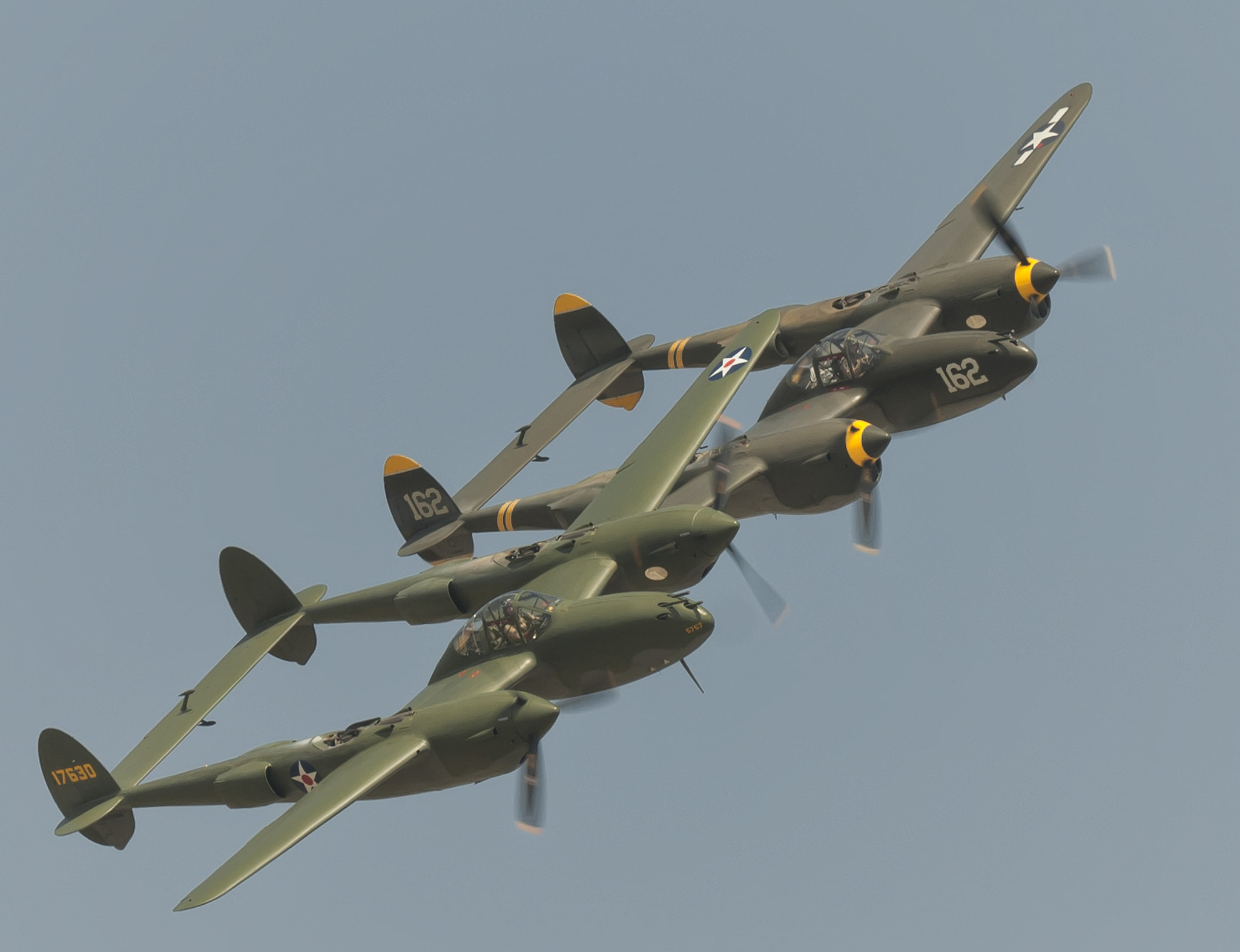 Photograph P-38's in formation by Richard  Small on 500px