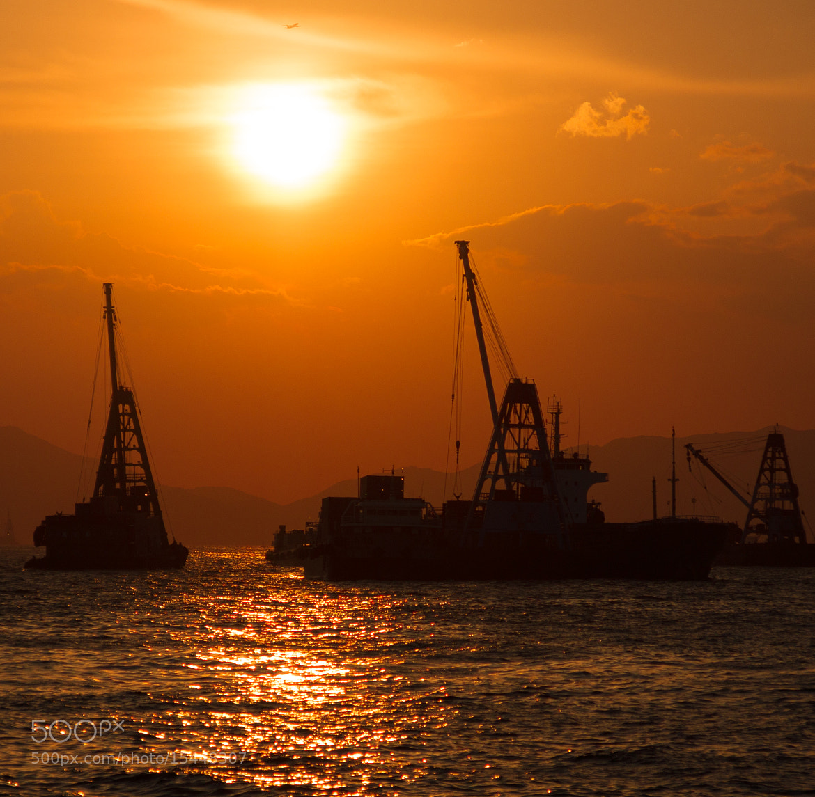 Photograph Harbour Sunset by Adrian Armirail on 500px
