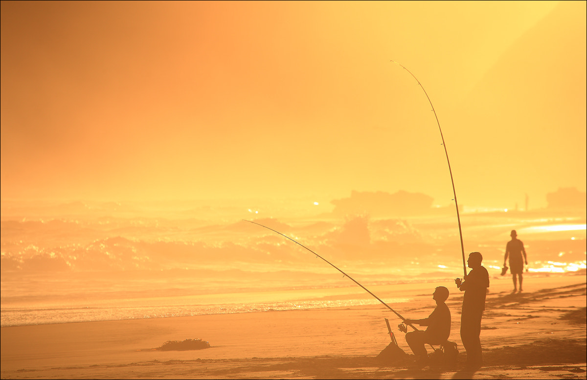 Photograph anglers on the beach by keehwan Kim on 500px