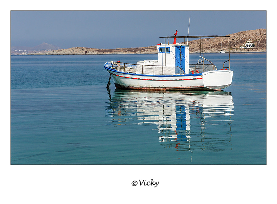 Photograph fishing boat, Naxos by Vicky Dens on 500px