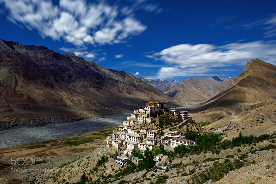 Photograph Moonlight Ki-Gompa by OaKy Isra on 500px