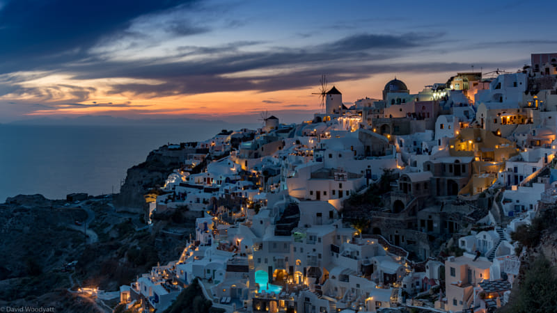 Santorini Sunset Pano by Adriana Manni on 500px