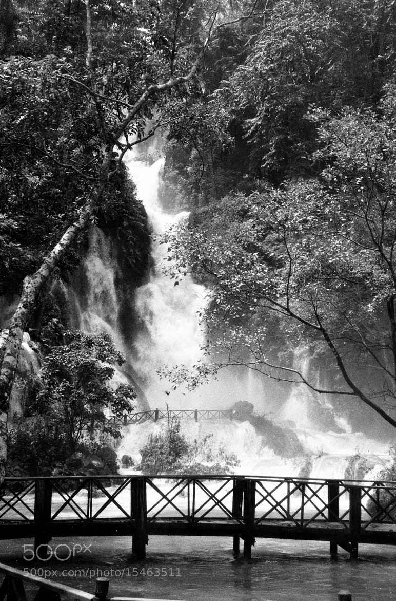 Photograph waterfalls in Luang Prabang in Laos by Andrea Margelli Photography on 500px