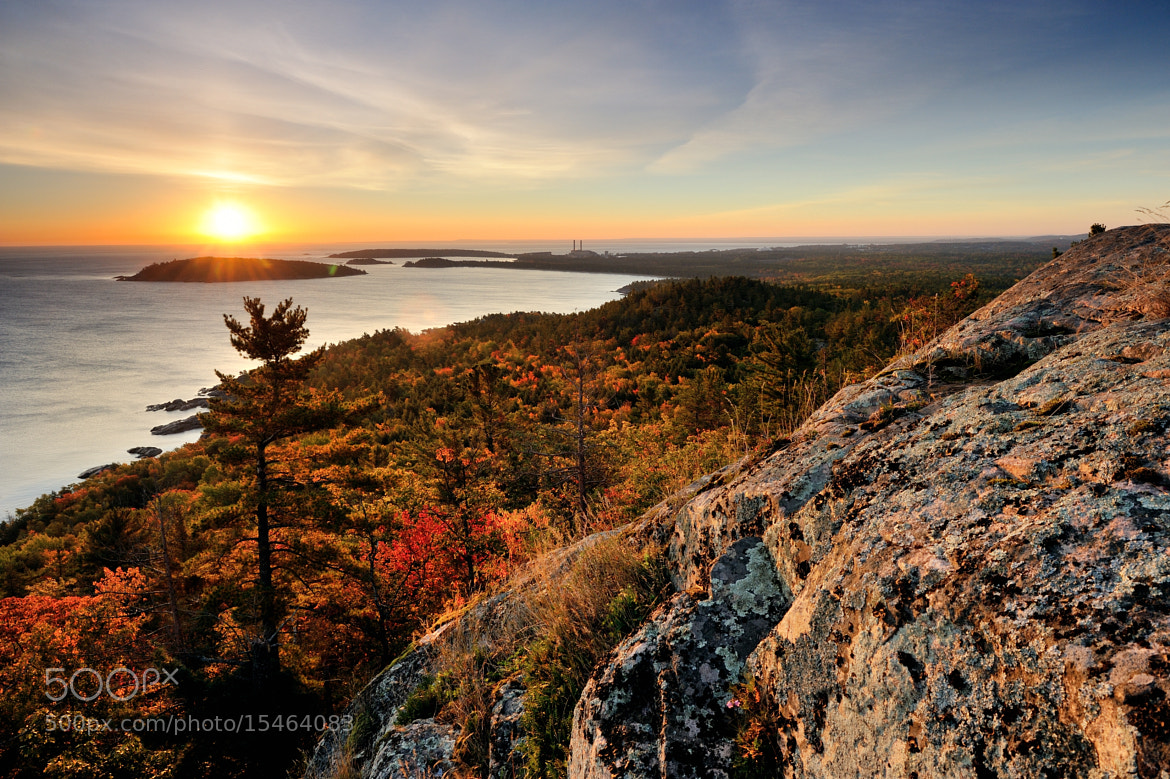 """Photograph """"Sugarloaf Sunrise"""" - Sugarloaf Mountain Marquette, Michigan by John McCormick on 500px"""