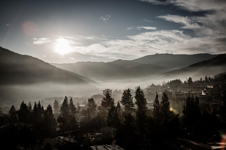 Sunrise over Bhutan by Craig Allen on 500px.com