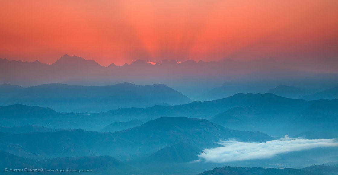 Photograph Sunrise above the Himalayas by Anton Jankovoy on 500px