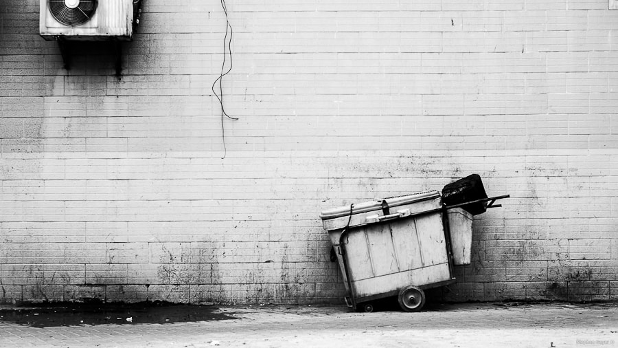 Photograph A Weird Trashcan by a Dirty Wall by Stephan Geyer on 500px
