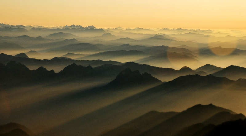 Photograph    Magical Sunrise across Cascade Mountains, Washington by Long Bach Nguyen on 500px