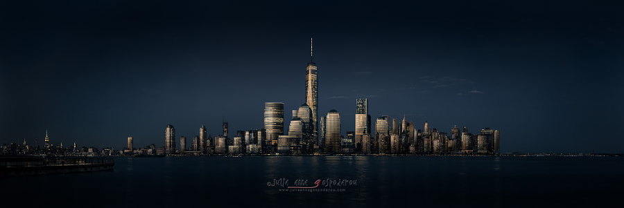 Fine Art Cityscape / landscape Photograph Manhattan Blues – New York City by Architectural and Landscape Photographer Julia Anna Gospodarou