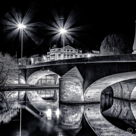Solférino bridge at Compiègne in B/W