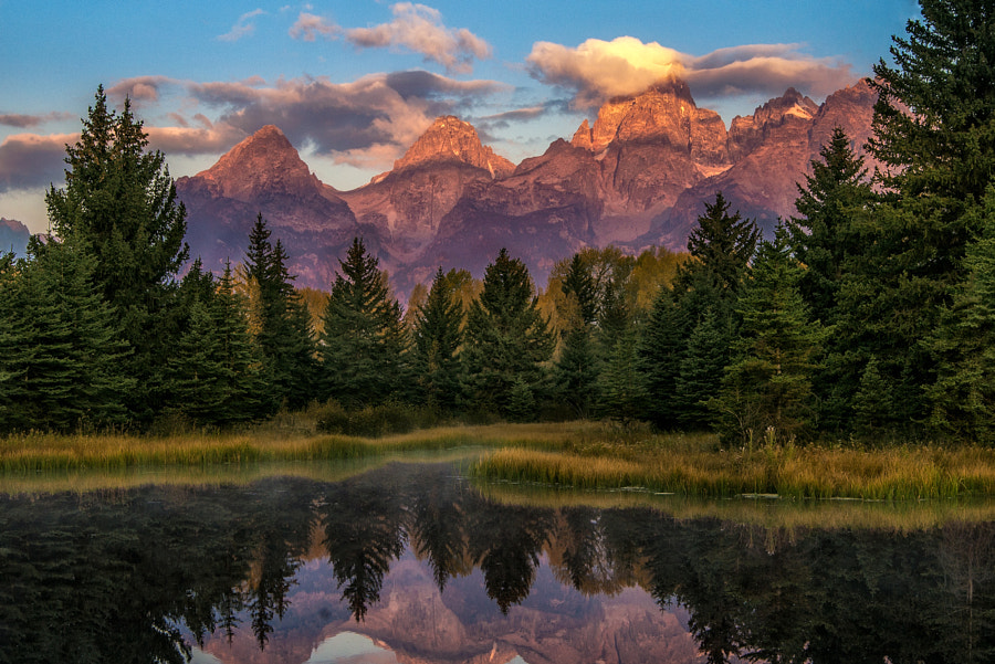 Schwabacher Landing Morning Reflections