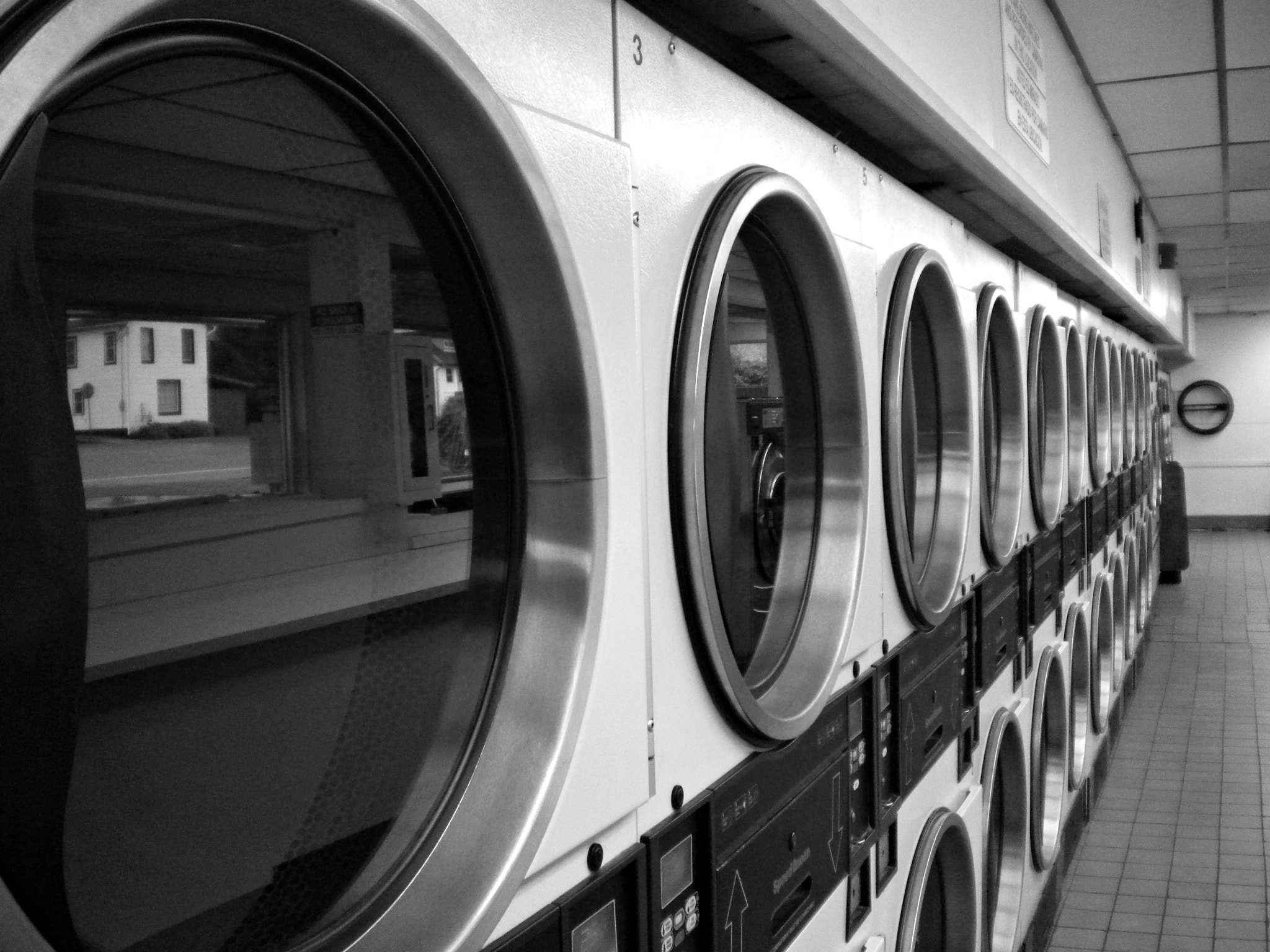 Photograph Laundromat B&W by S. Vargr on 500px
