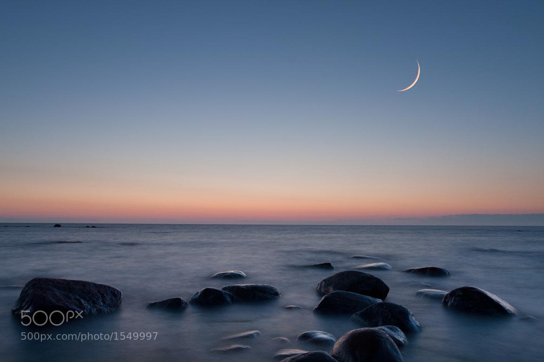 Photograph Moon at dusk by Kain Kalju on 500px