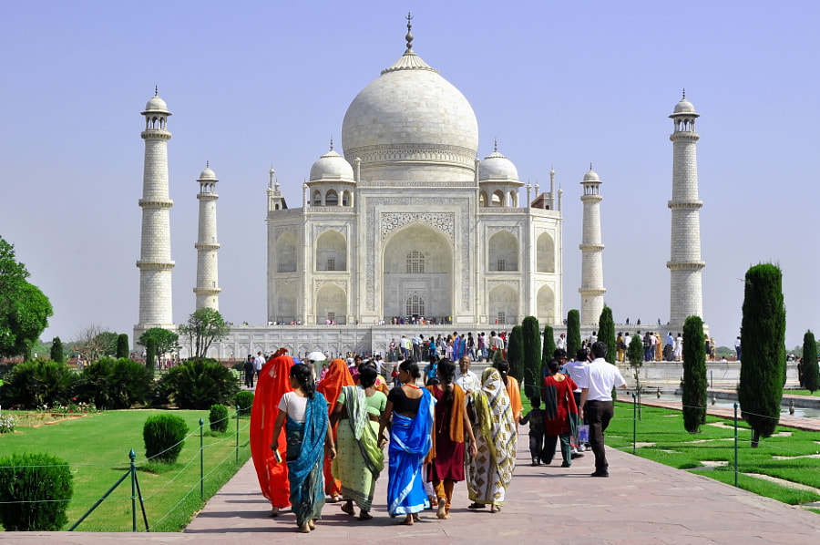 No words to describe the magnificent Taj Mahal at Agra, India! This picture was taken around 10 a.m.